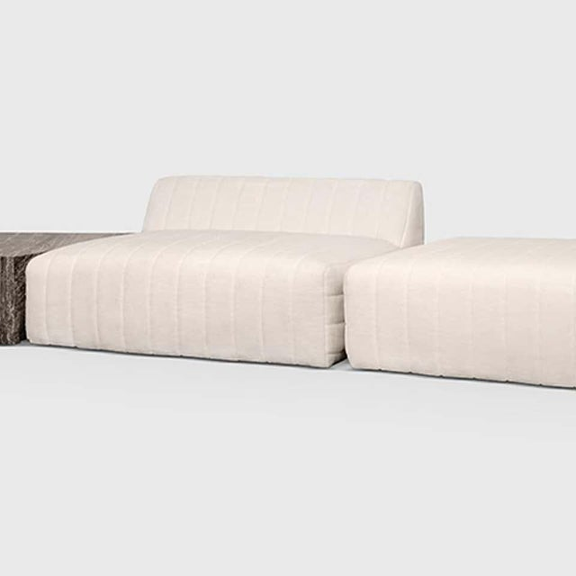 Modern Oberon Cream and Brass Steel Sofa II Sectional by Atra For Sale - Image 3 of 6