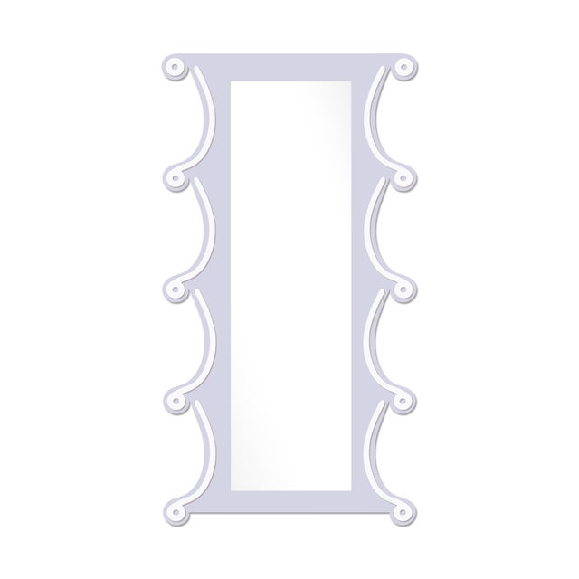 Contemporary Fleur Home x Chairish Voodoo Mirror in Spring Iris, 42x84 For Sale - Image 3 of 3