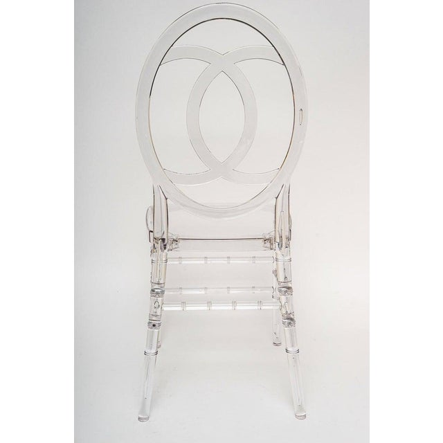 Lucite Stacking Chairs Faux Bamboo Hollywood Regency - Set of 10 For Sale - Image 10 of 13