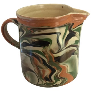 19th Century French Jaspe Pitcher For Sale