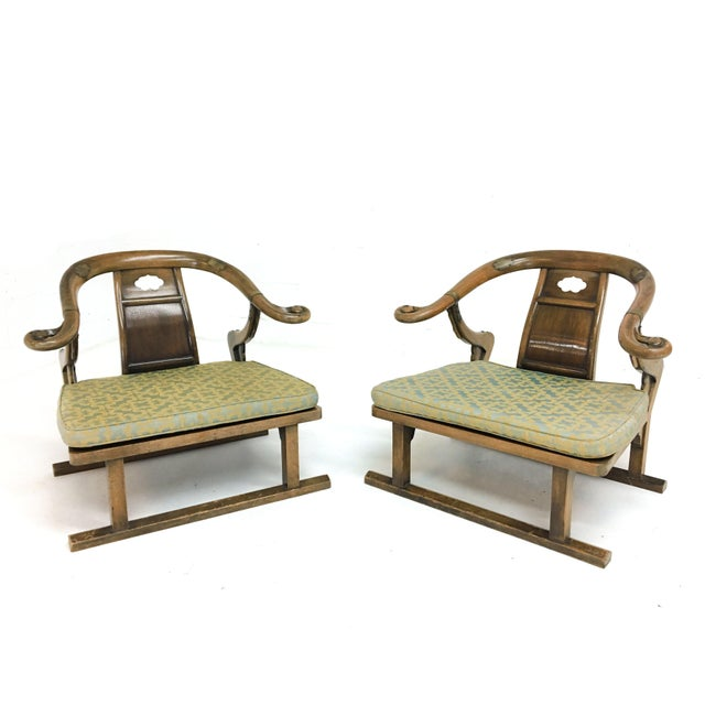 """Brass Mid Century Michael Taylor for Baker """"Far East"""" Lounge Chairs - A Pair For Sale - Image 8 of 9"""