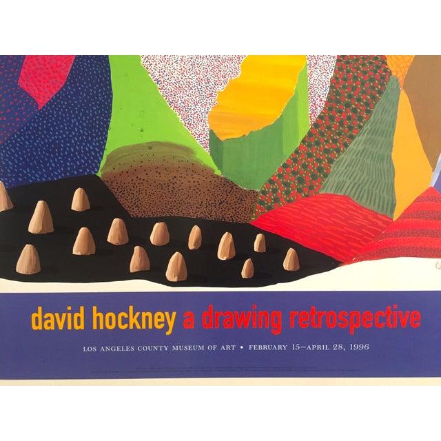 Lithograph Vintage 1996 David Hockney Original Lithograph Lacma Exhibition Pop Art Poster For Sale - Image 7 of 11
