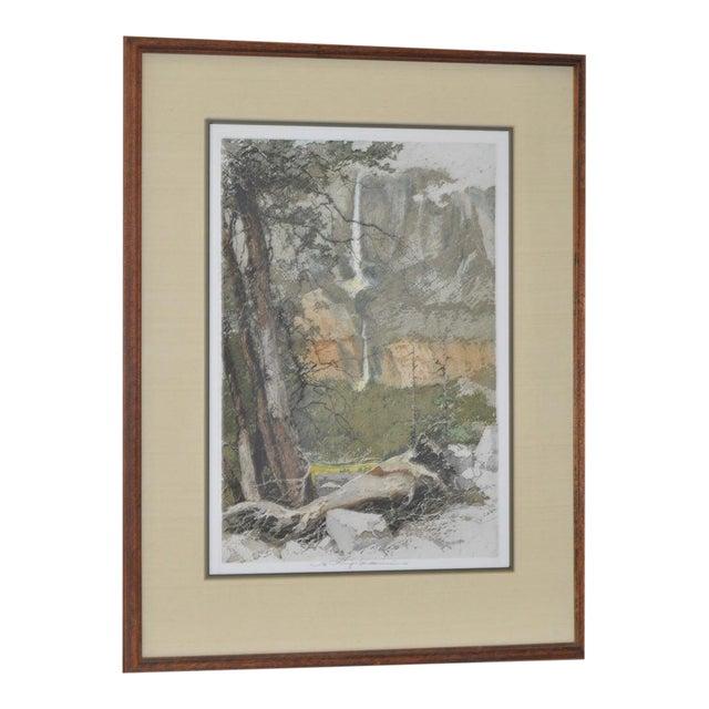 Yosemite Falls Etching by Luigi Kasimir - Image 1 of 10