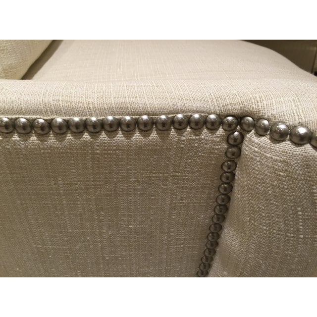 Southwood Transitional Modified Wing Chair For Sale - Image 5 of 6