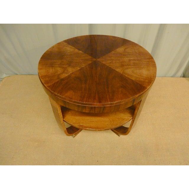 1930s 1930's Art Deco Round Table For Sale - Image 5 of 5