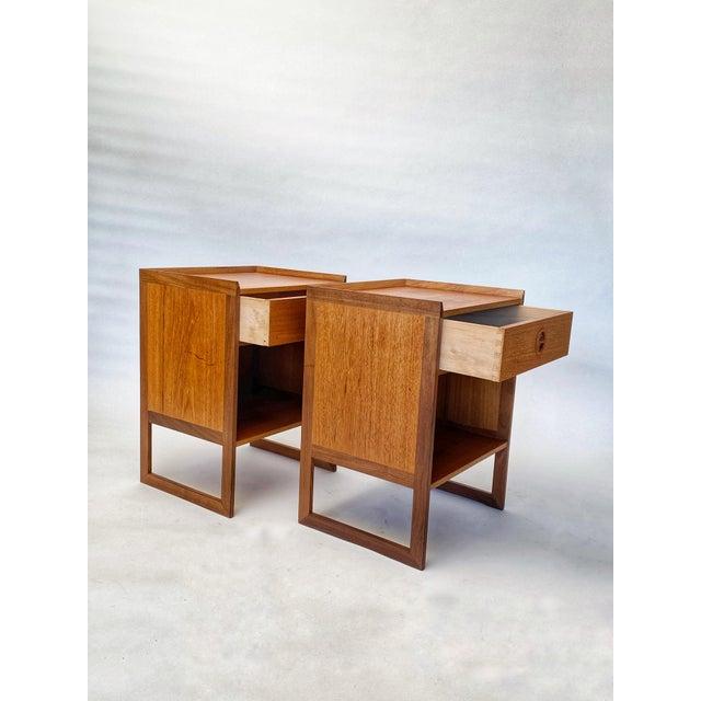 Arne Wahl Iversen 1960s Mid Century Scandinavian Arne Wahl Iversen Nightstands - a Pair For Sale - Image 4 of 12