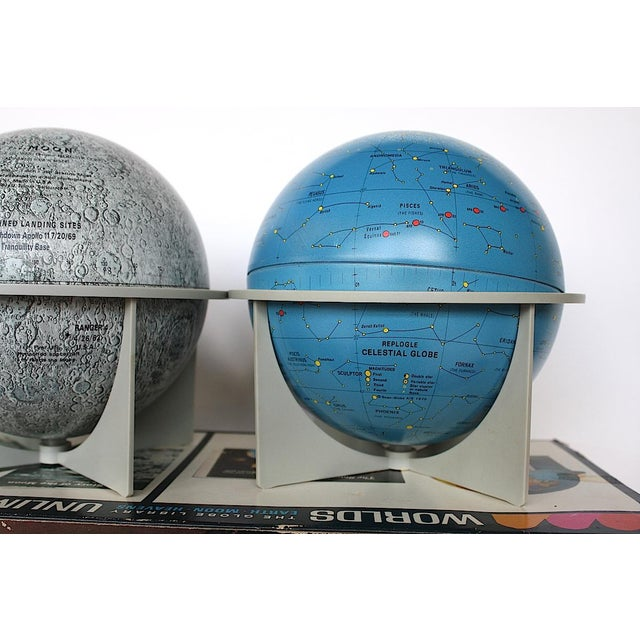 Vintage Moon Celestial Earth Globes- Set of 3 For Sale - Image 9 of 11