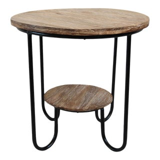 Teak Deco Side Table