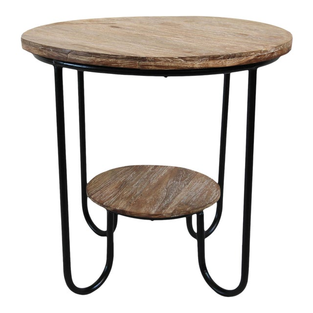 Teak Deco Side Table For Sale