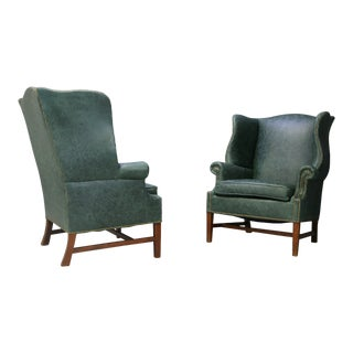 Pair of Armchairs by Peter Hvidt & Orla Mølgaard Nielsen Wingback Chair For Sale
