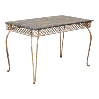 Late 19th Century Iron and Wood Garden Table For Sale