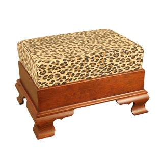 Chippendale Style Cherry Foot Stool For Sale