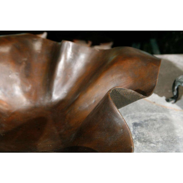 Large Bronze Handkerchief Planter For Sale In Los Angeles - Image 6 of 8