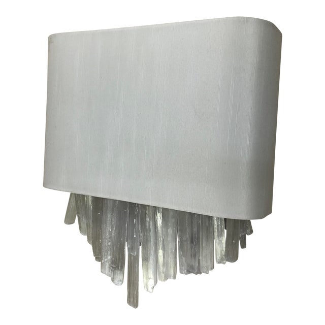 Whitewash Wall Sconce by Currey & Company For Sale