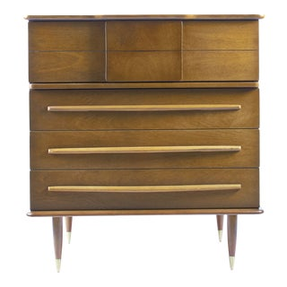 1950s Mid-Century Modern United Furniture Corporation 4-Drawer Chest of Drawers For Sale