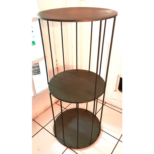 Kalalou Tall Metal Round Side Table For Sale - Image 13 of 13