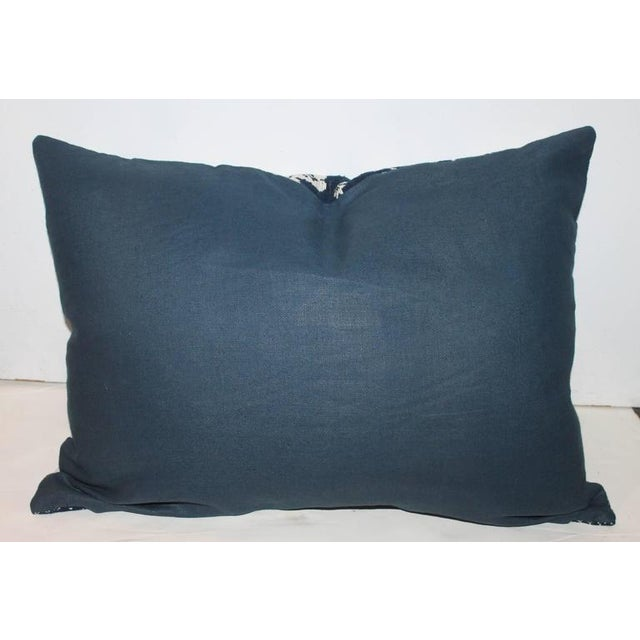 Signed & Dated 1853 Lanc. County Coverlet Pillow For Sale - Image 4 of 6
