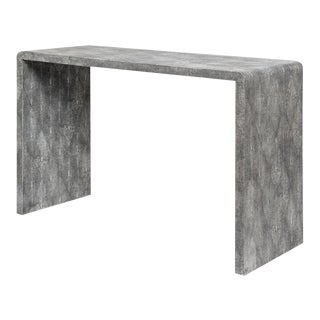Astele Harlow Shagreen Console Table For Sale