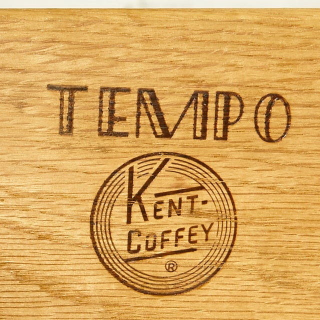 Caning 1960s Kent Coffey Walnut Tempo Desk For Sale - Image 7 of 9