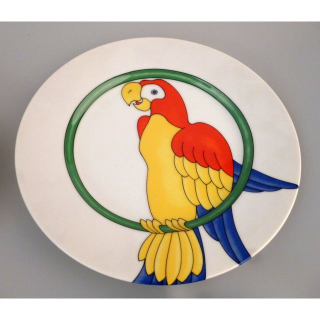Fritz and Floyd Parrot in Ring Plates - 8 For Sale - Image 5 of 6
