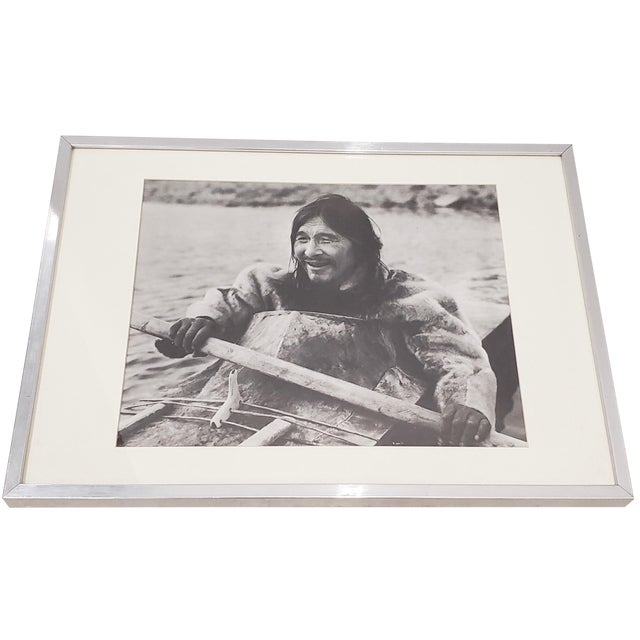 "Vintage ""Eskimo"" Framed Photograph by the Education Development Center C.1967 For Sale"