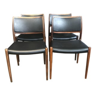 J.L. Møller Danish Rosewood Dining Chairs - Set of 4