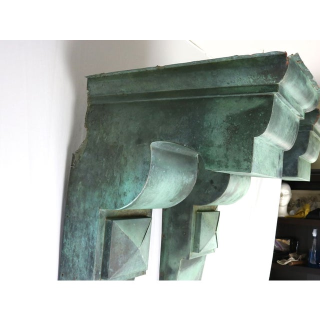 Green Antique Green Copper Architectural Brackets - a Pair For Sale - Image 8 of 10