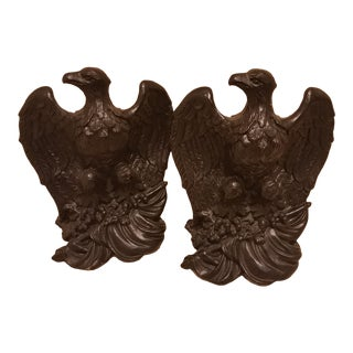 1965 Plaster Cast Eagle Bookends - a Pair For Sale