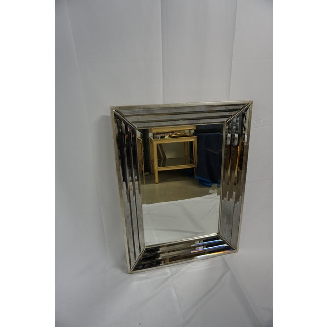 Modern Venetian Mirror With Beveled Frame For Sale - Image 3 of 5