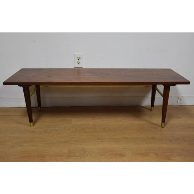 Antique Coffee Tables Ireland: Vintage Walnut & Brass Coffee Table