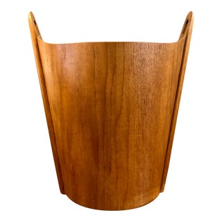 Vintage P.S.Heggen Teak Wastebasket by Einar Barnes-Norway For Sale