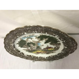"Mid 20th Century English Staffordshire ""Country Style"" Serving Dish Preview"