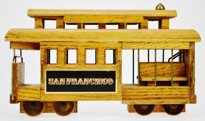 San Francisco Wooden Cable Car Music Box   Image 2 Of 12