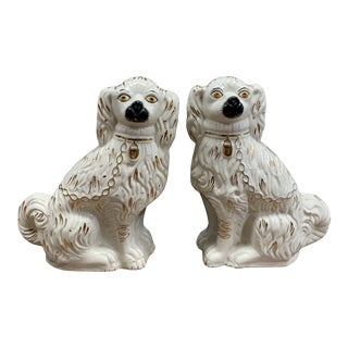 Antique Staffordshire Kent Dogs - a Pair For Sale