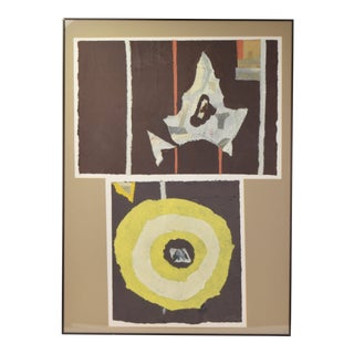 1970s Vintage Ki Davis Abstract Paper Collage #2 For Sale
