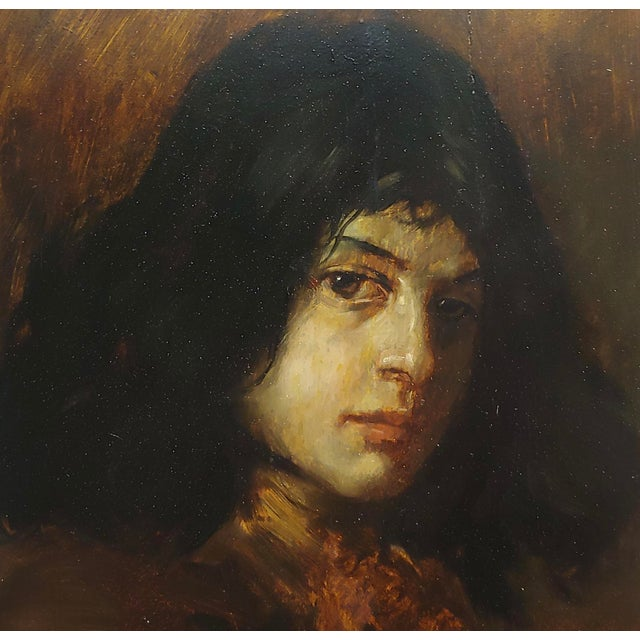 German School-Portrait of a Good-Looking Man-Oil Painting-C1900s For Sale - Image 4 of 10
