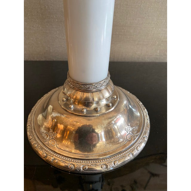 1900 - 1909 1900s - 1940s English Sterling & Marble Candles With Gargoyle Motif - a Pair For Sale - Image 5 of 13