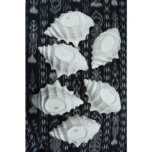Fitz & Floyd Shell Shaped Ceramic Bowls - Set of 6 - Image 4 of 5