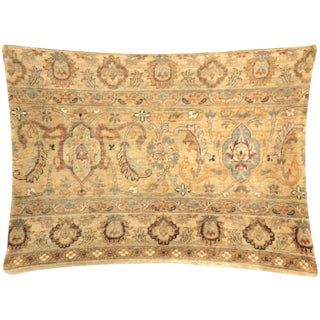 "Nalbandian - 1960s Persian Tabriz Rug Pillow - 17"" X 23"" For Sale"