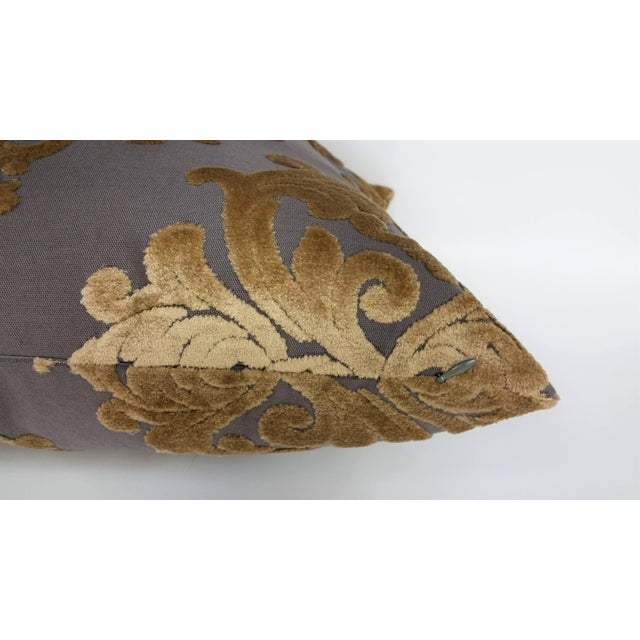 French Robert Allen Royal Beauty Slate Pillows - A Pair For Sale - Image 3 of 5