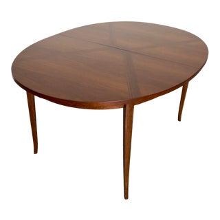 1940s Danish Modern Walnut Dining Table For Sale