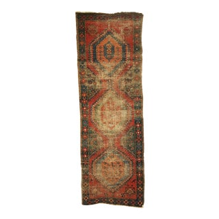 Antique Distressed Caucasian Long Rug Runner 2'8 X 8'2 For Sale