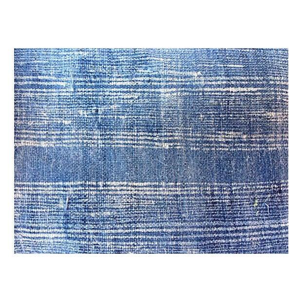 Faded Indigo Batik Textile Fabric - 3.6 Yards - Image 3 of 6