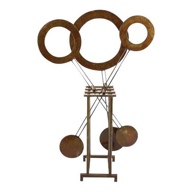 Monumental Mid-century Kinetic Sculpture, Very Soothing, Hypnotic For Sale