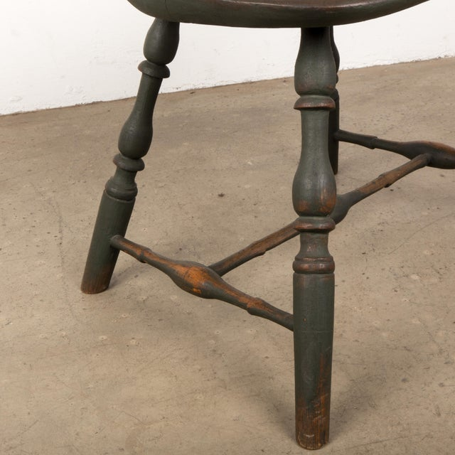 Wood 18th C. Peg Krupp Private Collection Windsor Chair #2 With Extended Arms For Sale - Image 7 of 12