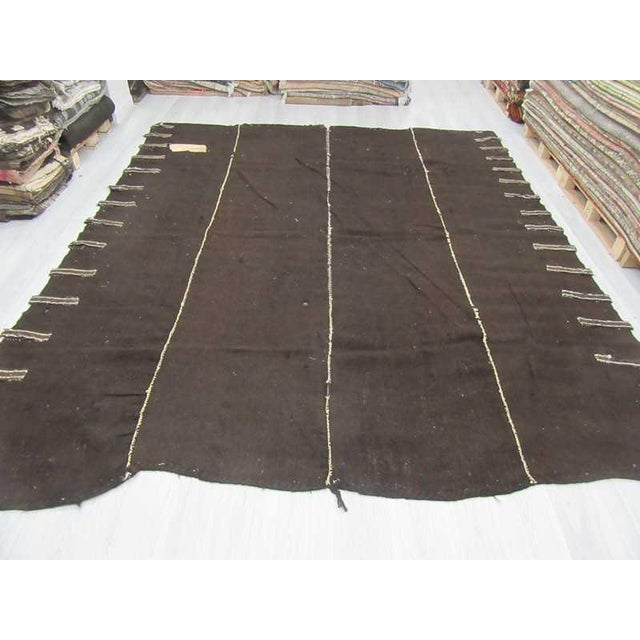 Vintage nomad tente kilim rug from Afyon region of Turkey. Approximately 60-70 years old.