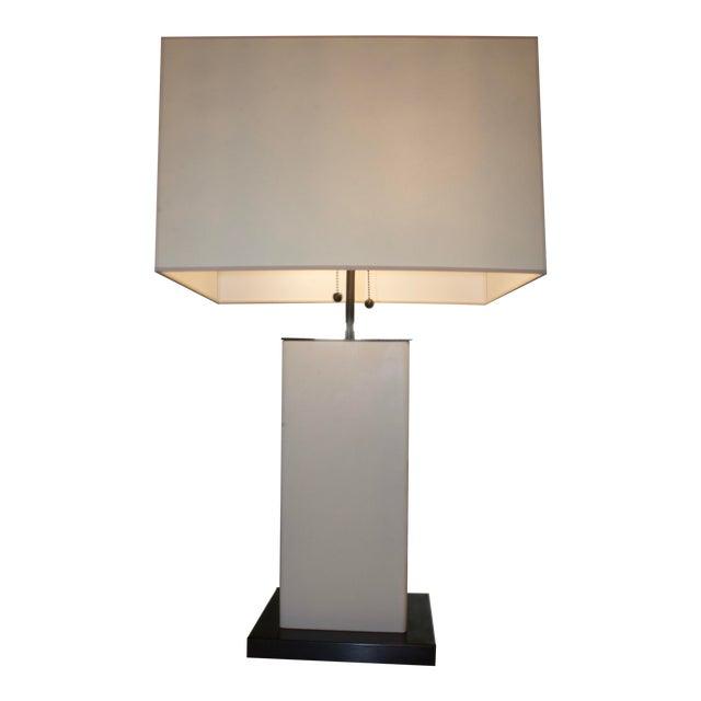 Dixon Parchment Leather Lamp For Sale