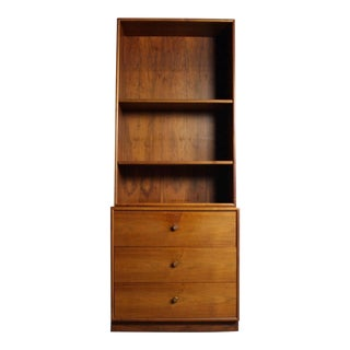 Drexel Walnut Dresser & Bookshelf For Sale