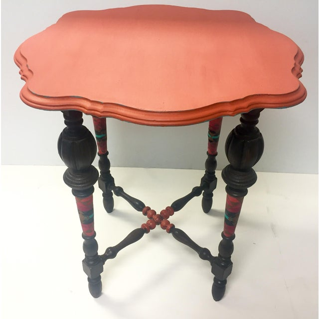 Orange Spice Accent Table - Image 2 of 8