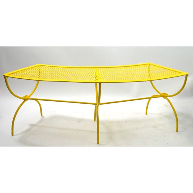 Curved Garden Patio Benches by Salterini Pair Available For Sale - Image 10 of 12